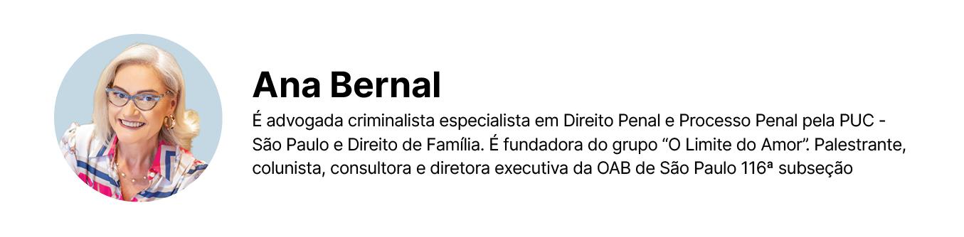 Assinatura de Ana Bernal